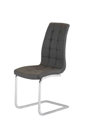 Aracelli Square Stitch Padded Designer Dining Chair - Grey